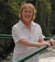 Ann Hamblin at Tea Lake Dam